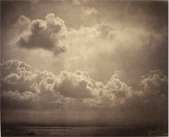 Gustave Le Gray: Seascape [Marine, étude de nuages], 1856-57, Albumen print / Musée d'Orsay, Paris