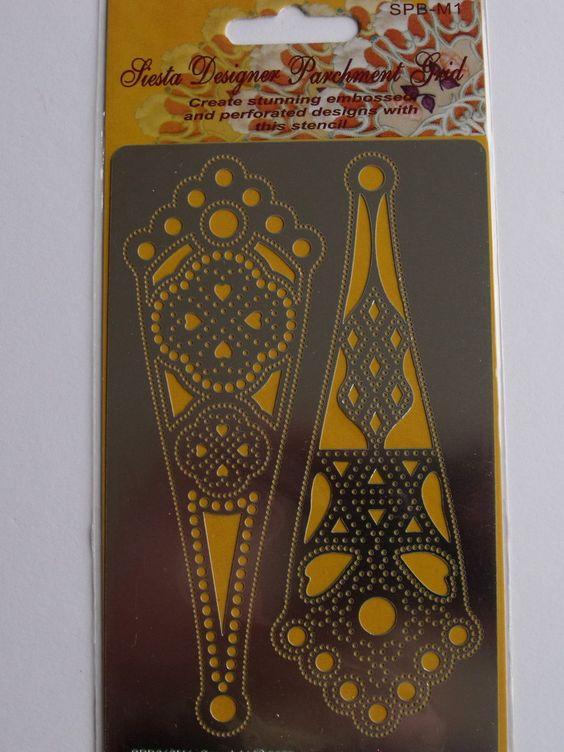 "SIESTA MEDIUM PARCHMENT DESIGNER GRID - 12     Code: SPB012M    Medium Parchment Designer Grid 3.5"" x 5.5"" (85 x 140mm)"