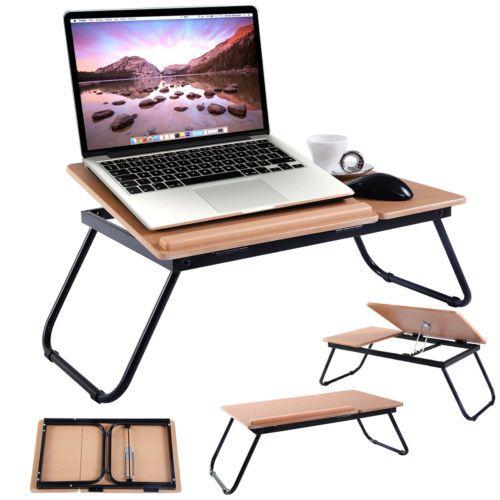 Details About Portable Foldable Laptop Notebook Pc Desk Table