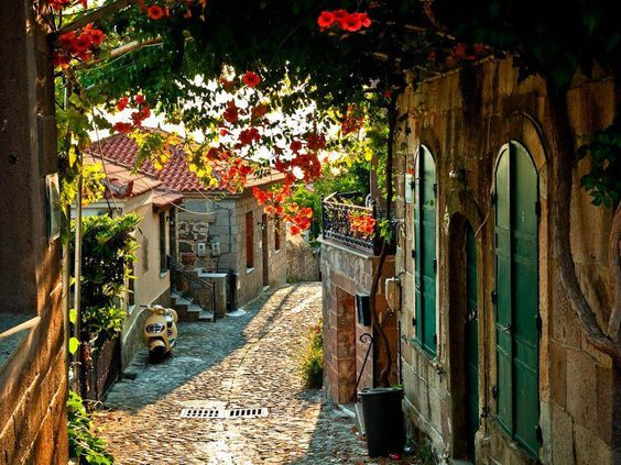 A Beautiful street of a small town in Italy: