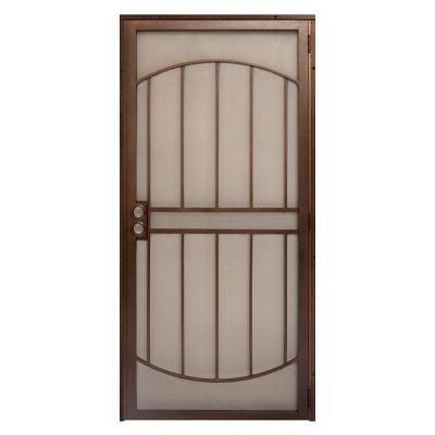 Unique Home Designs 36 In X 80 In Arcadamax Copper Surface Mount Outswing Steel Security Door