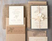 """Rustikal, Elegant, Boxed Hochzeitseinladungen, Sackleinen, Woodland, verzauberte Wald-Hochzeit - """"Moos Tree Box einladen"""" Sample - neuen niedrigeren Preis!"""
