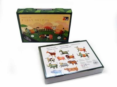 Magnetic animals - 3 pieces per animal to mix and match