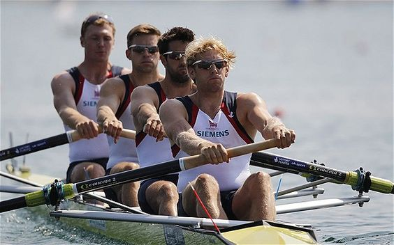 Alex Gregory, Pete Reed, Tom James and Andrew Triggs Hodge - London 2012 Olympics: Team GB men's four break world record in World Cup in Lucerne, Switzerland