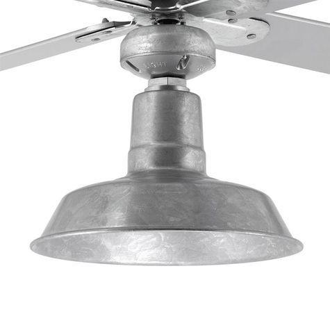 Machine Age Warehouse Ceiling Fan Light Kit In 2020 Fan Light Kits Ceiling Fan Industrial Ceiling Fan
