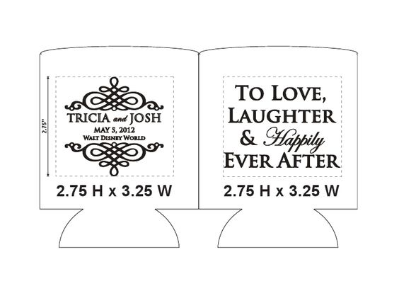 And I got some pictures back from one of Laura's assistants, Jen, with ... Custom @weddingkoozies are the perfect wedding favor! 1 Color or Multi Color, we got it all!