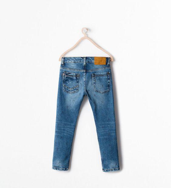 ZARA的图片 2 名称 印花修身丹寧褲