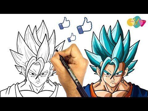 تعلم الرسم الانمي طريقة رسم اندماج غوكو و فيجيتا من انمي دراغون بول غوكو و فيجيتا سوبر سايان بلو Yout Anime Dragon Ball Super Anime Dragon Ball Anime Art