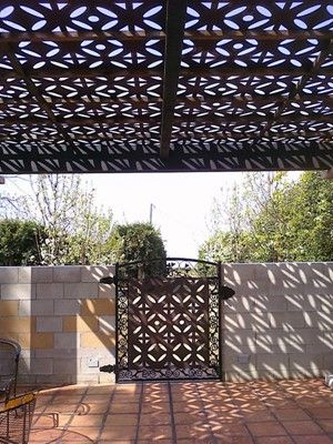 Outdoor Rooms Made From Decorative Pannels