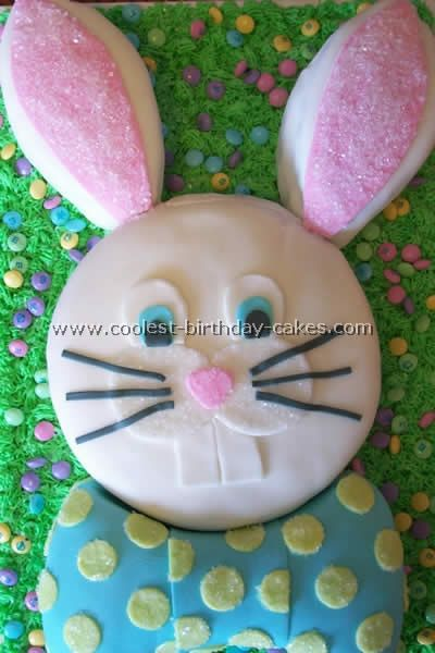 Cutest bunny cake ever.....I love his buck teeth too:)