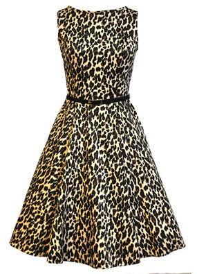 NEW! Leopard Print Tea Dress, by Lady V London