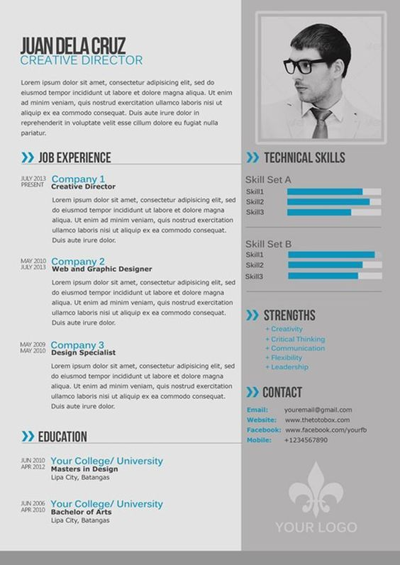 Cv Template Free Best - Resume Cv Templates Free