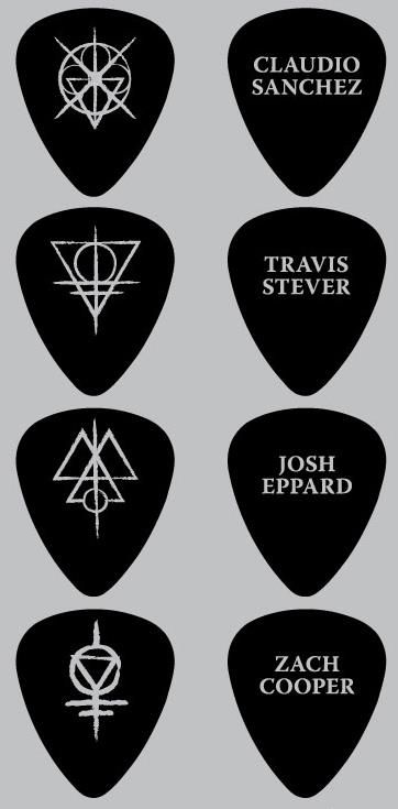 Coheed guitar picks... want!