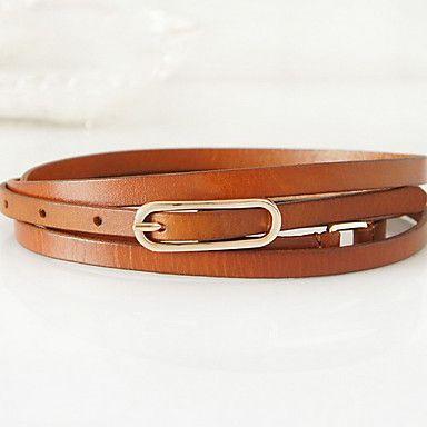 Women&'s Double Circles Skinny Belt(187*0.9*0.25cm)