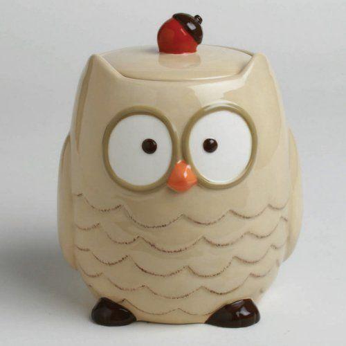 Tag Owl Cookie Jar: