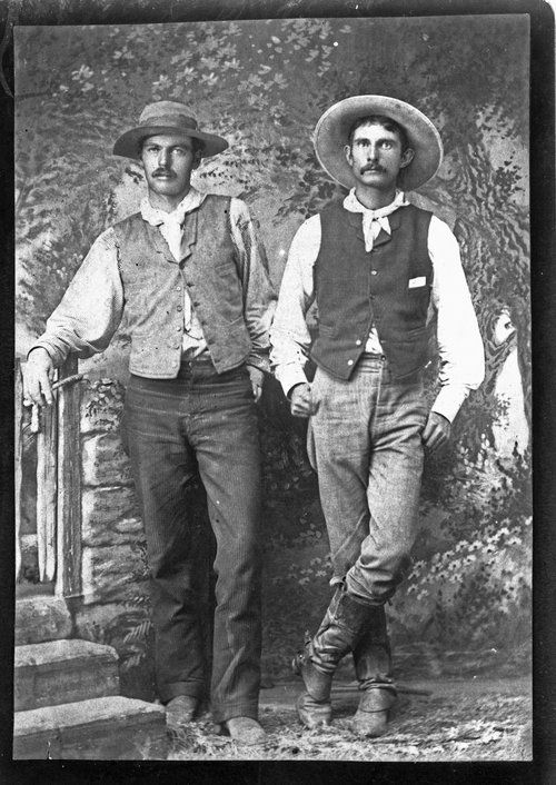 Sheridan County Men Dressed Is Cowboy Attire Between 1890