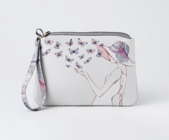 A28315 Style & Gracie Wristlet- This Style and Gracie wristlet perfectly sized for cash, cards and coins, also features a coordinated ribbon strap #style #enesco #hallmark