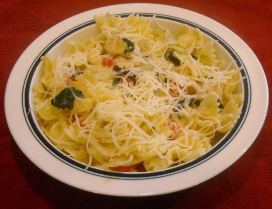 Bow-Tie Pasta With Chicken And Spinach Recipe - Food.com