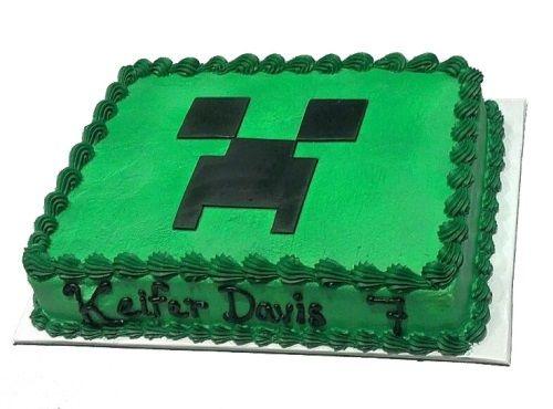 Sensational Minecraft Cake Caker Street Fiesta De Cumpleanos Minecraft Funny Birthday Cards Online Inifofree Goldxyz