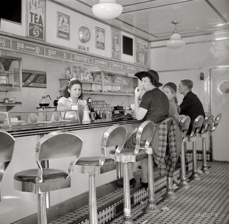 "October 1941. ""White Tower hamburger stand, the popular place in Amsterdam, New York."":"