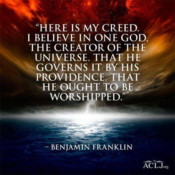 Benjamin Franklin on Faith