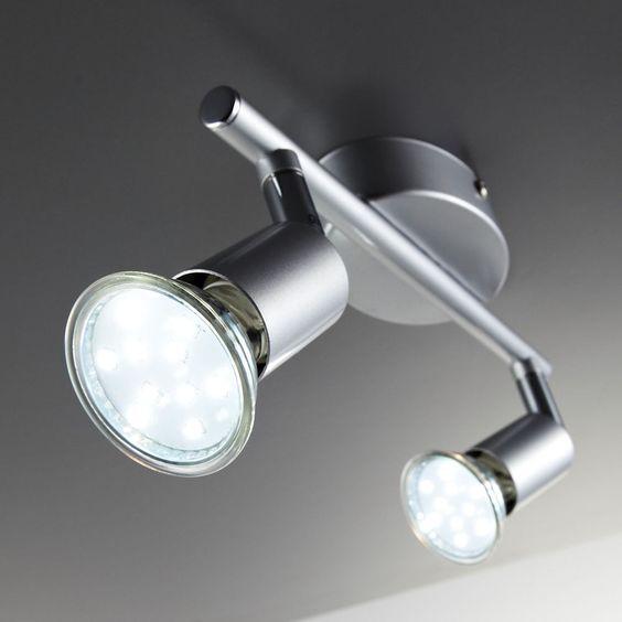 LED Deckenlampe Wohnzimmer schwenkbar GU10 Metall Decken-Spot - deckenlampen wohnzimmer led