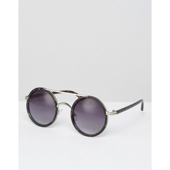 Missguided Round Wire Sunglasses (€15) ❤ liked on Polyvore featuring accessories, eyewear, sunglasses, black, gradient lens sunglasses, rounded sunglasses, adjustable glasses, wire glasses and rounded glasses