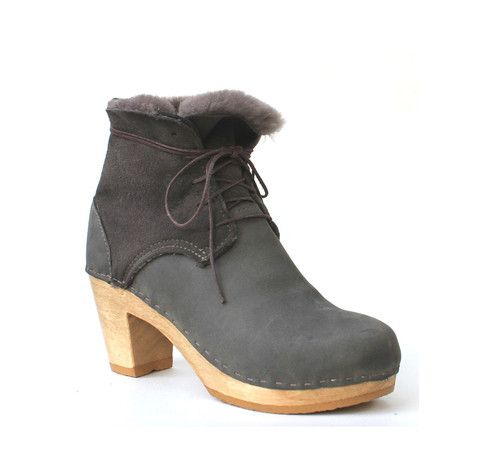Phoebe shearling boot - Bryr - Clogs Handmade in America