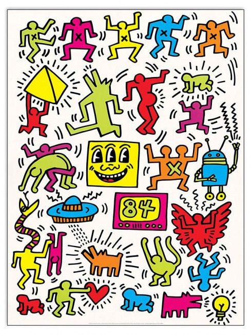 Canvasdoeken Bij Limango Keithharing Keith Haring Wallpaper Keith Haring Art Haring Art Keith Haring