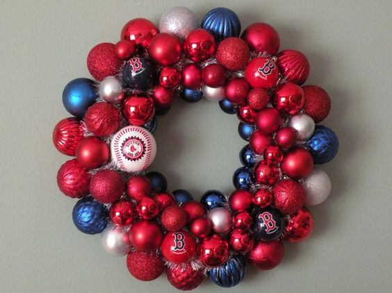 Red Sox Wreath