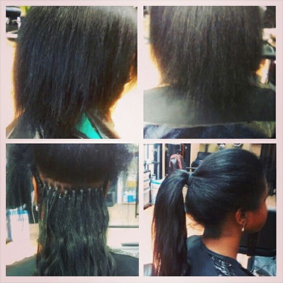 African American Micro Link Weave | hair extensions before ...