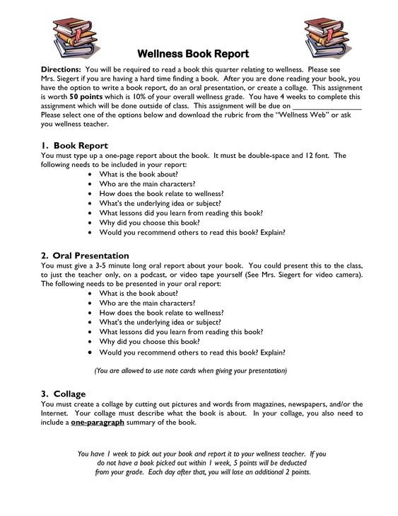 mla book report format