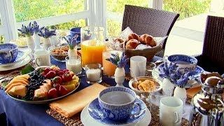 Ina Garten Brunch On A Blue And White Tablescape Start