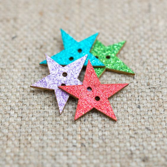 Glitter Star Buttons | The Makery