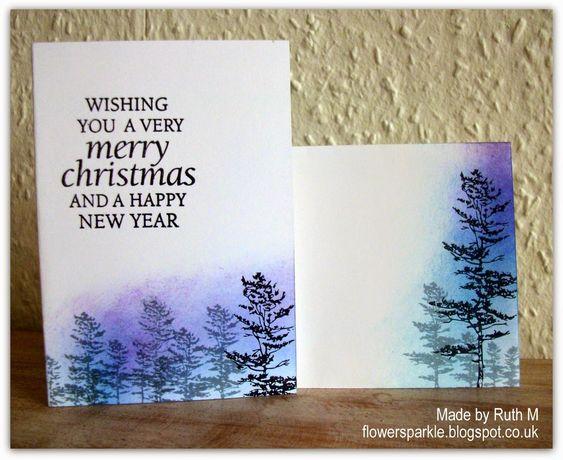 http://flowersparkle.blogspot.com.es/2014/10/pine-trees-winter-scene-one-layer-card.html