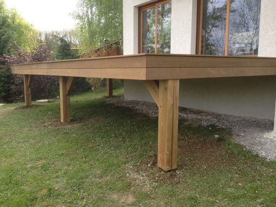 Terrasse en bois exotique (Ipé) sur pilotis + escalier Idées