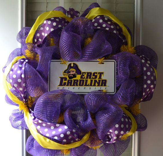 ECU Wreath! Once a pirate always a pirate! I WANNNA/GOTTA HAVE THIS!!!