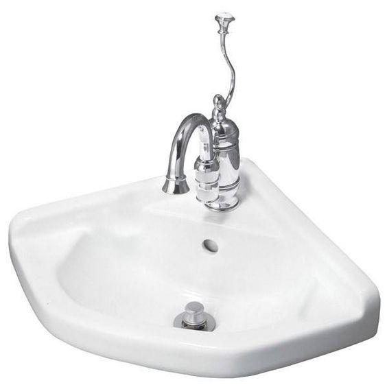 Elizabethan Classics English Turn Corner Basin Sink - Single Faucet Drilling