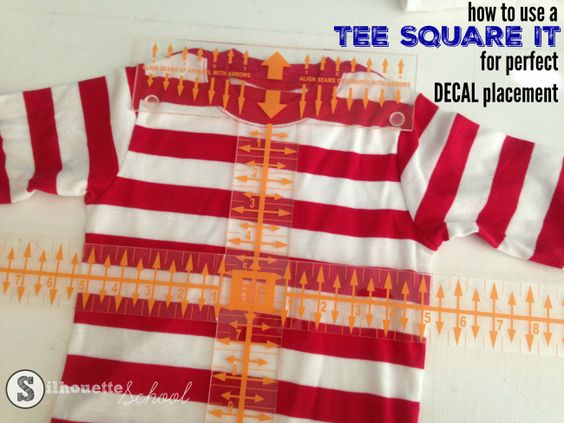 How To Use A T Square For T Shirt Decal Placement Silhouette School Silhouette School Blog Htv Shirts