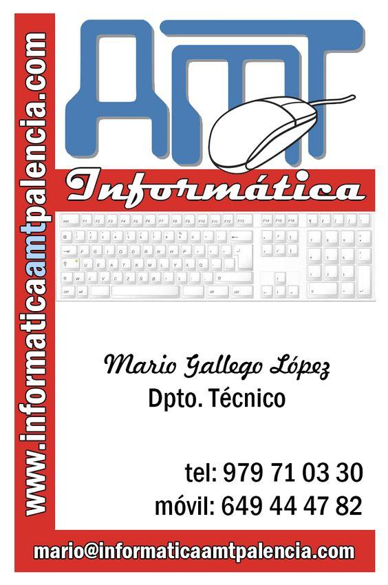nuevas tarjetas de visita de AMT informática en Palencia