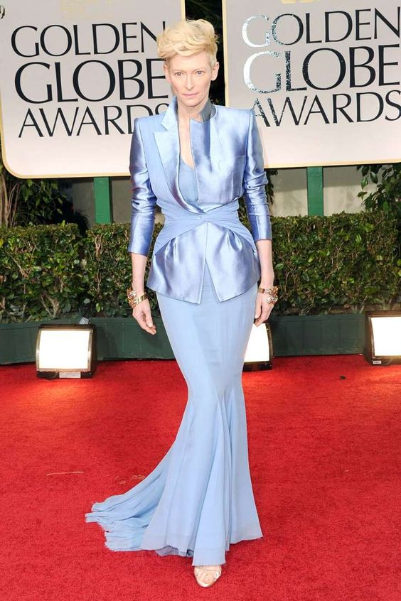 What: Haider AckermannWhere: Golden Globe Awards in 2012Why: Swinton's exquisitely tailored skirt an... - Getty Images