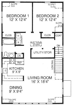 Floor plan for above garage aprtment all house for Garage apartment plans canada