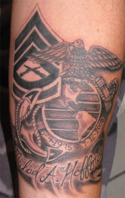 Pinterest the world s catalog of ideas for Usmc sleeve tattoo ideas
