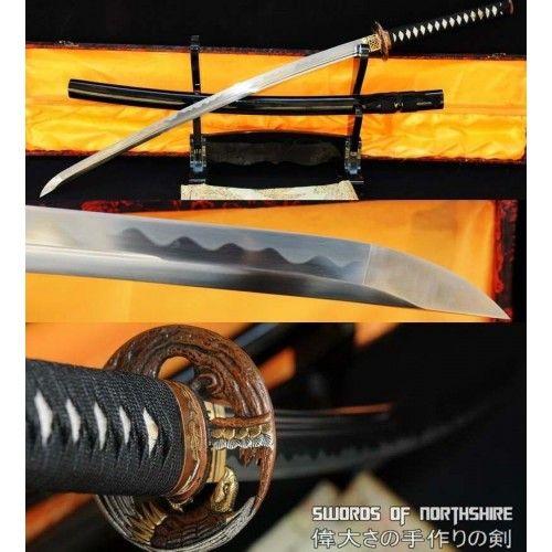 Hand Forged 1095 High Carbon Steel Unokubi Zukuri Eagle Katana Katana Katana Swords Sword