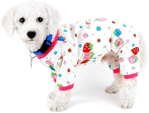 Amazon Com Selmai Pajamas For Small Dogs Cats Fleece Lined