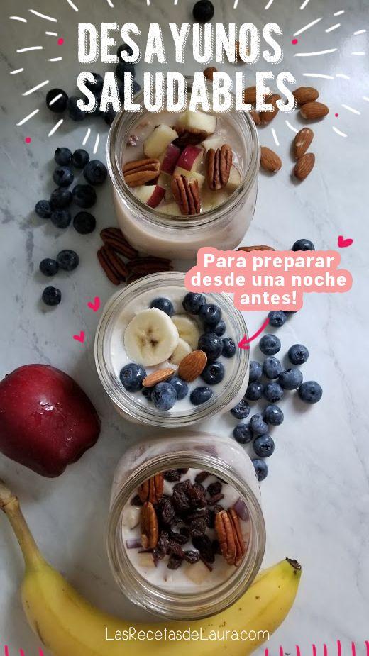 3 Desayunos Fáciles Con Avena Receta Desayuno Saludable Fácil Desayunos Nutritivos Comidas Con Avena