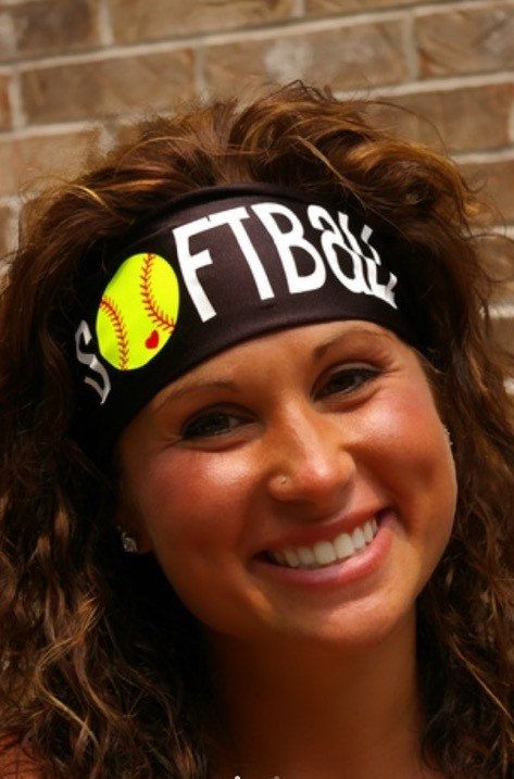 Hey, I found this really awesome Etsy listing at https://www.etsy.com/listing/245599956/softball-headband-stayband