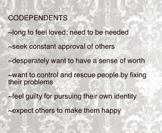 codependent dating a bpd While the diagnosis of a personality disorder is usually reserved for individuals in  recovery pursuits for the codependent involve becoming aware of.