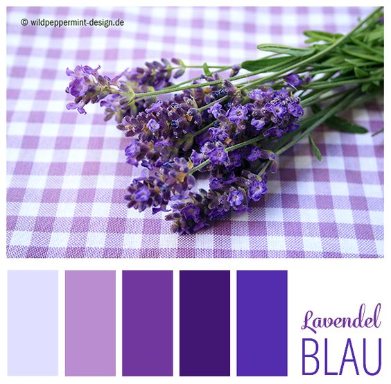 farbpalette lavendel blauviolett blau sommer wildpeppermint design. Black Bedroom Furniture Sets. Home Design Ideas