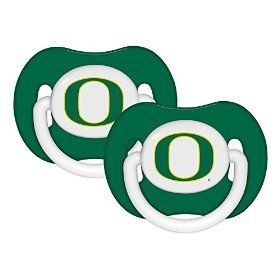 My daughter has these...thanks for Grandma!Oregon Ducks NCAA 2-Pack Infant Baby Pacifier